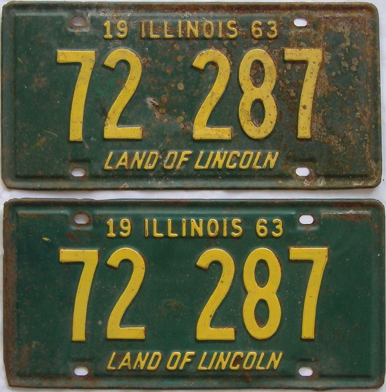 1963 Illinois (Pair) license plate for sale