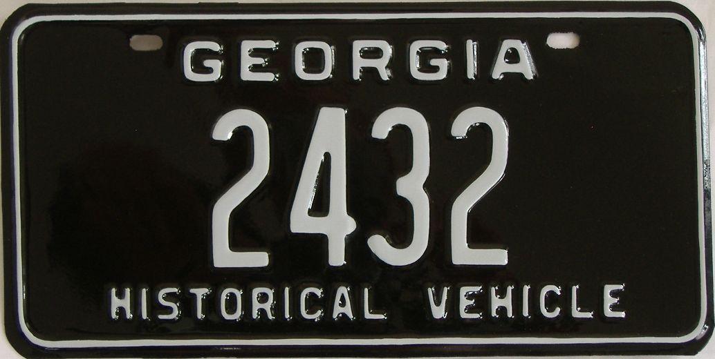 RESTORED 1969 Georgia license plate for sale