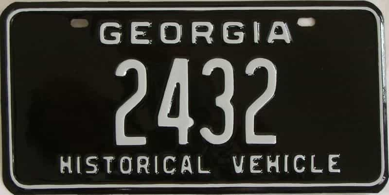 RESTORED 1969 GA license plate for sale