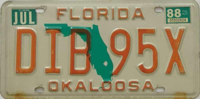 1988 FL license plate for sale