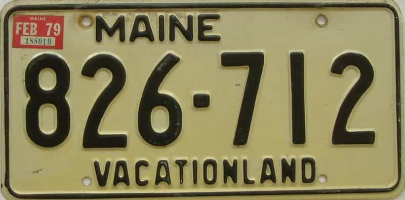 1979 Maine  (Single) license plate for sale