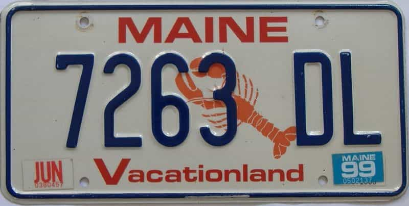 1999 ME (Single) license plate for sale