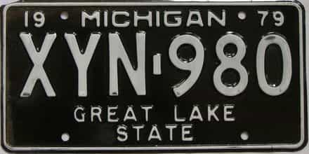 1979 Michigan (Single) license plate for sale
