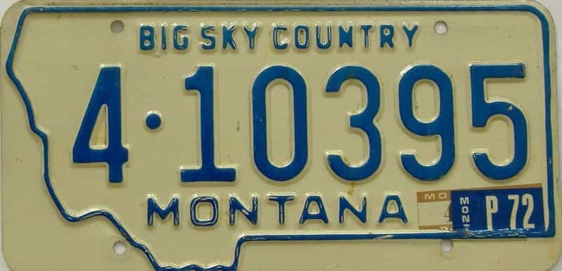 1972 MT (Single) license plate for sale