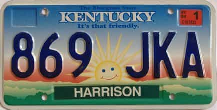 2004 Kentucky license plate for sale