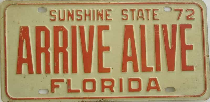 1972 Florida license plate for sale