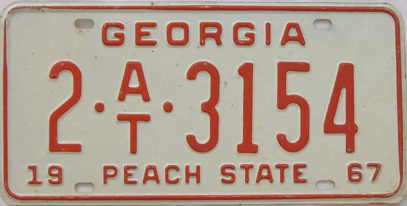 YOM 1967 GA (Trailer) license plate for sale