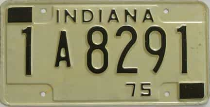 1975 Indiana license plate for sale
