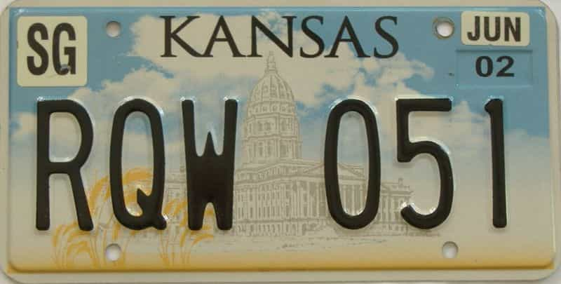 2002 KS license plate for sale