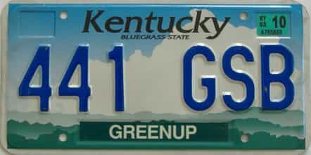 2003 Kentucky (Natural) license plate for sale