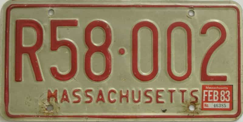 1983 MA license plate for sale