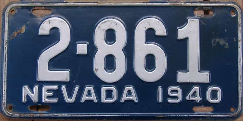 1940 NV (Single) license plate for sale