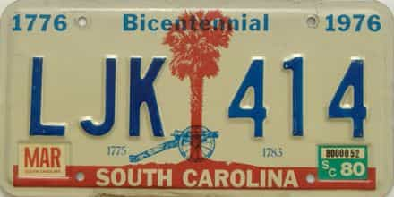 1980 SC (DMV not clear)