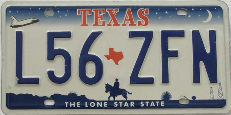 TX (Single) license plate for sale