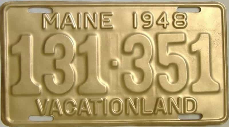 1948 Maine license plate for sale