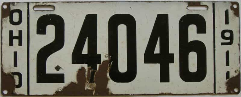 1911 OH (Single) license plate for sale