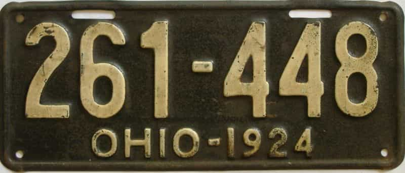1924 OH (Single) license plate for sale