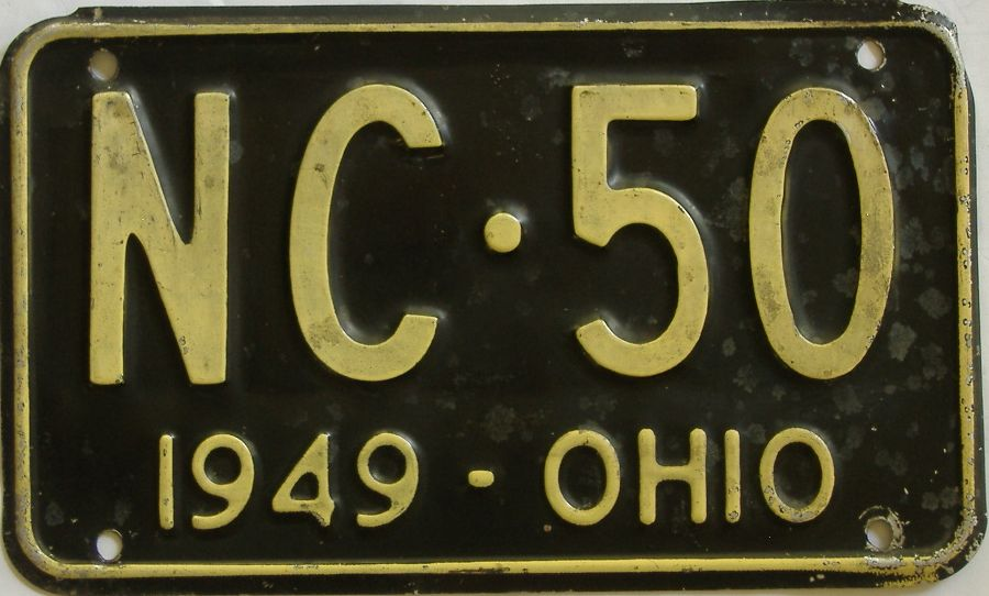 1949 Ohio (Single) license plate for sale