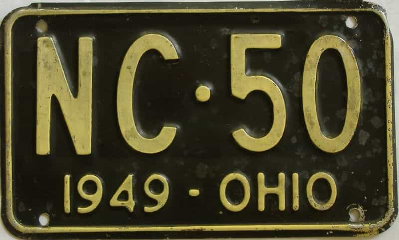 1949 OH (Single) license plate for sale