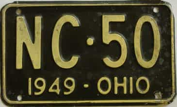 1949 Ohio (Single) license plate for sale