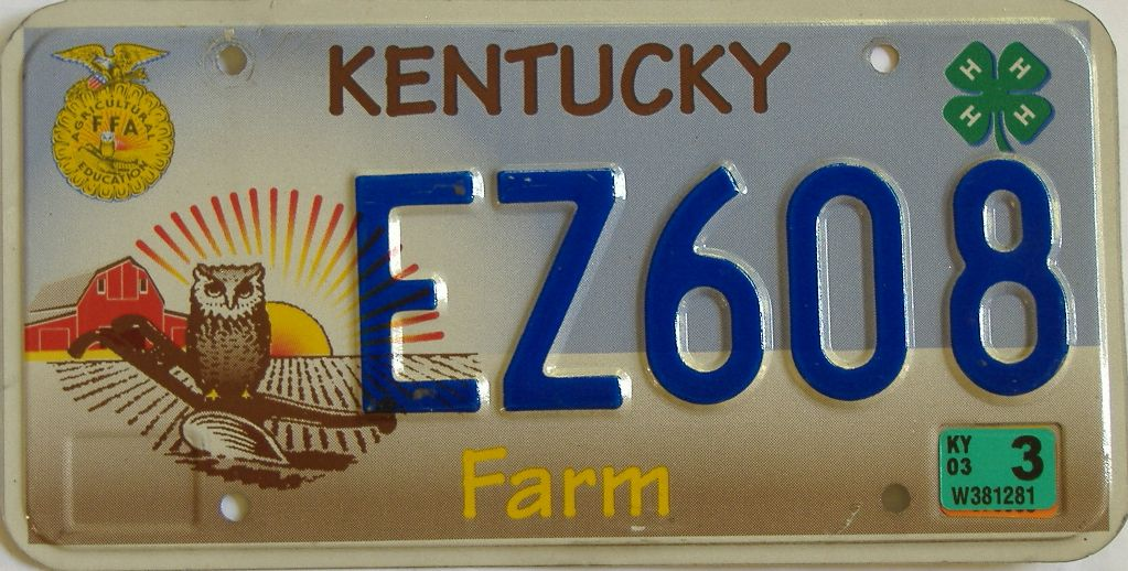 2003 Kentucky license plate for sale