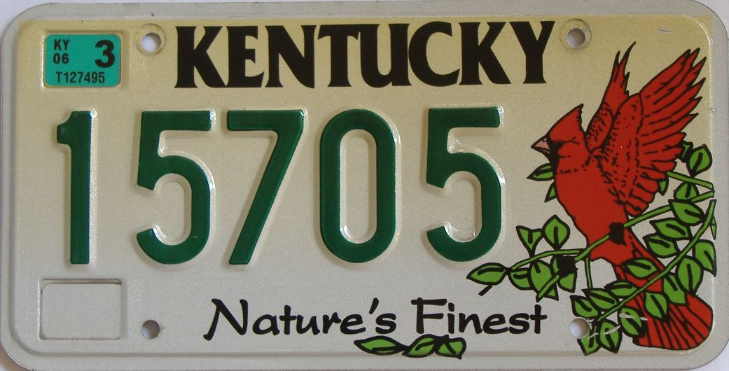 2006 KY license plate for sale