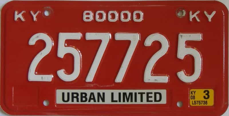 2008 Kentucky (Natural) license plate for sale