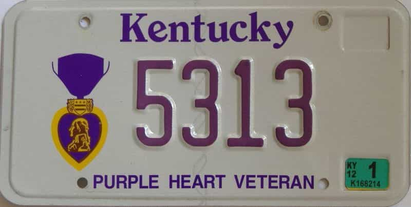 2012 Kentucky license plate for sale