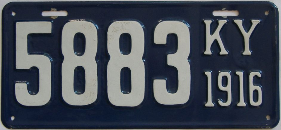 1916 Kentucky (Very Nice Repaint) license plate for sale