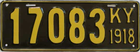 1918 Kentucky (Very Nice Repaint) license plate for sale