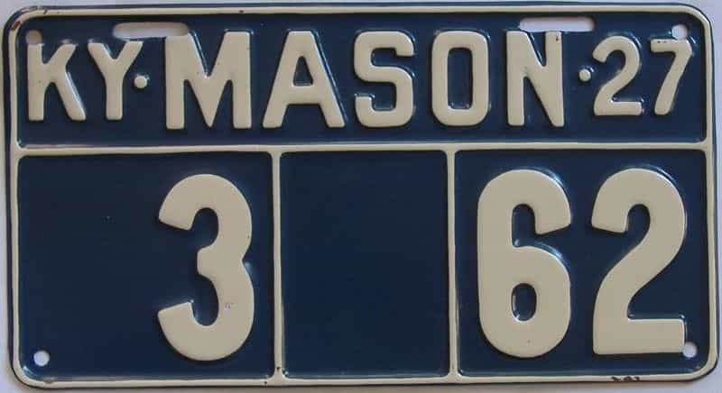 1927 Kentucky (Very Nice Older Repaint) license plate for sale