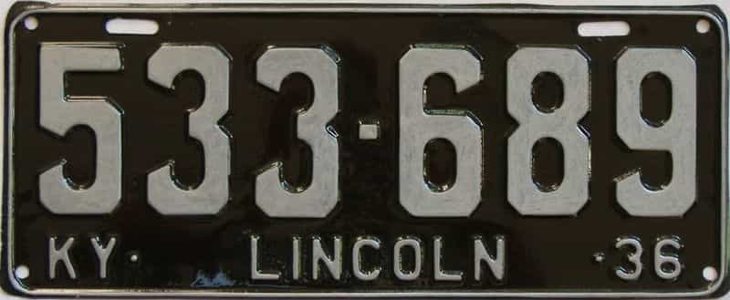 1936 Kentucky (Repainted) license plate for sale