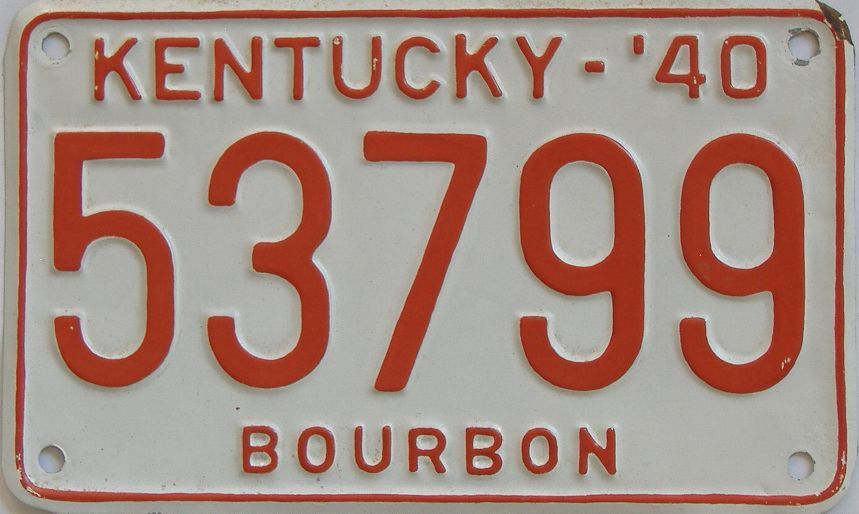 1940 Kentucky (Repainted) license plate for sale