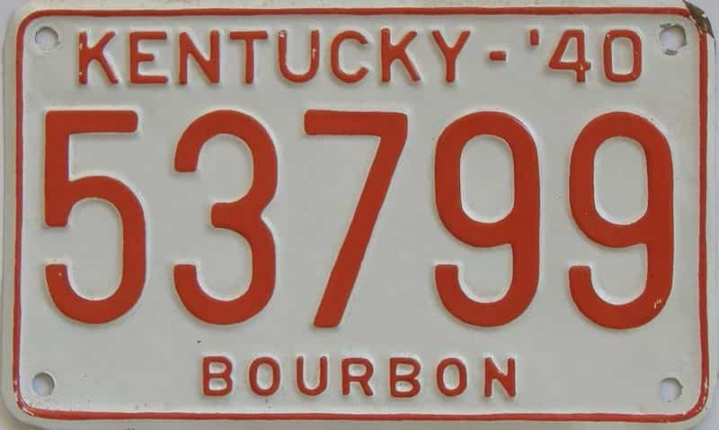 1940 KY (Repainted) license plate for sale