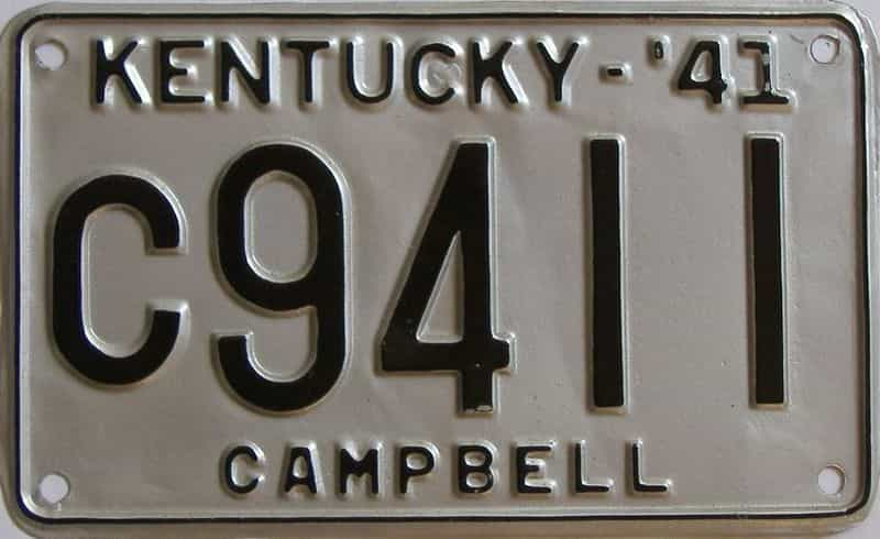 1941 Kentucky  (Older Repaint) license plate for sale