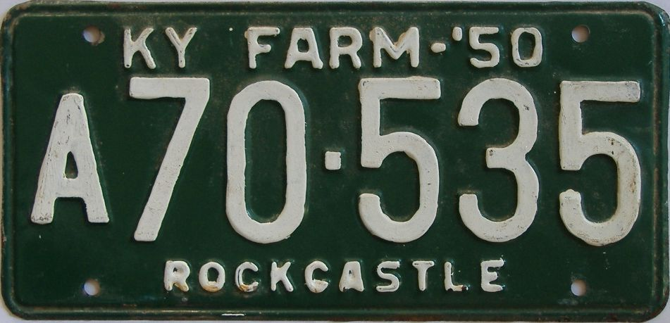 1950 Kentucky (Amatuer Repaint) license plate for sale