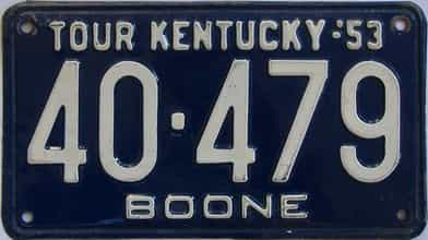 1953 Kentucky license plate for sale