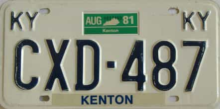 1981 Kentucky license plate for sale