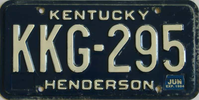 1984 KY license plate for sale