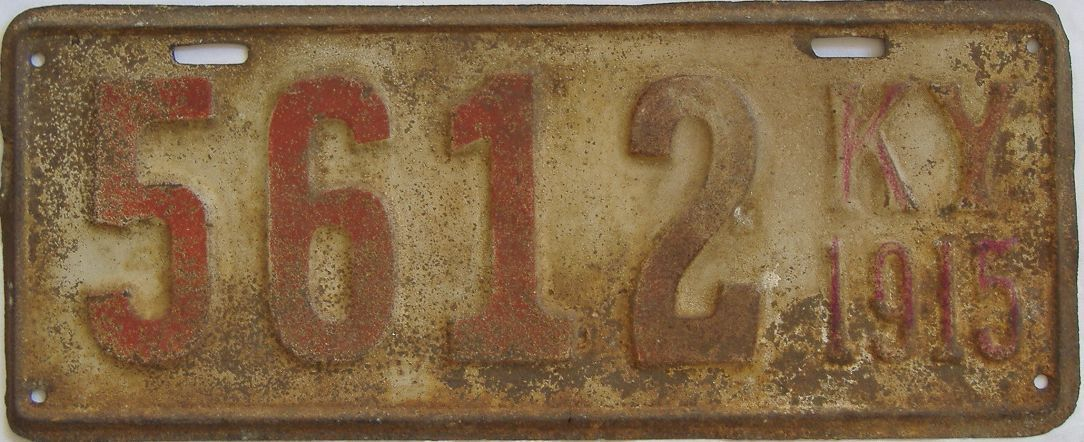 1915 Kentucky (Single) license plate for sale