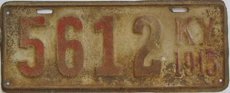 1915 KY (Single) license plate for sale