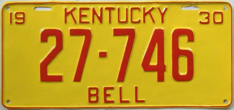 RESTORED 1930 Kentucky (Single) license plate for sale