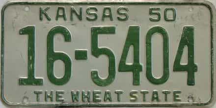 1950 Kansas license plate for sale