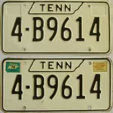 1976 Tennessee (Pair) license plate for sale