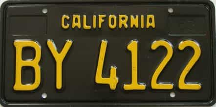 1963 California  (Trailer) license plate for sale