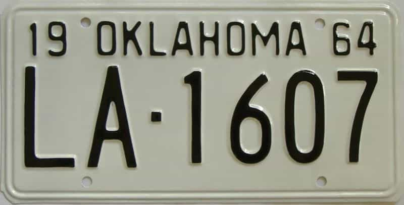 RESTORED 1964 OK license plate for sale