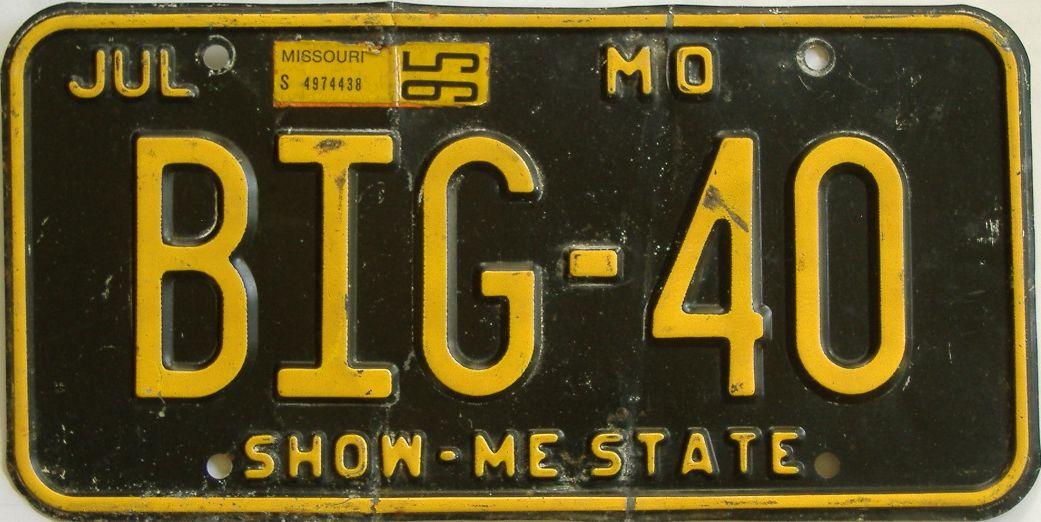 1995 Missouri (Vanity) license plate for sale