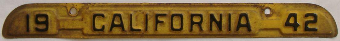 YOM 1942 California (Relettered) license plate for sale