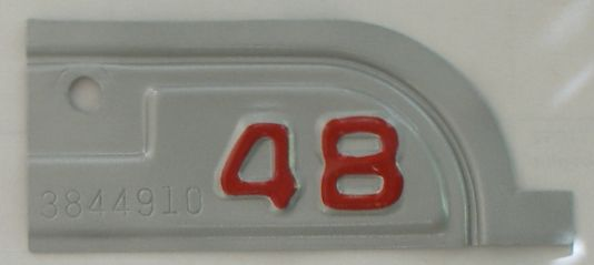 YOM 1948 California (Very Nice Repaint) license plate for sale