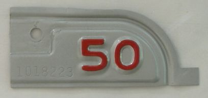 YOM 1950 California (Very Nice Repaint) license plate for sale